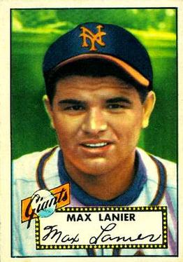 1952 Topps #101 Max Lanier Front