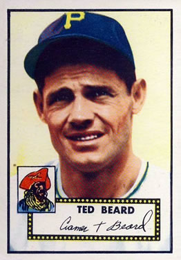 1952 Topps #150 Ted Beard Front