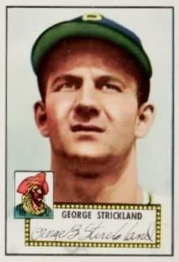 1952 Topps #197 George Strickland Front
