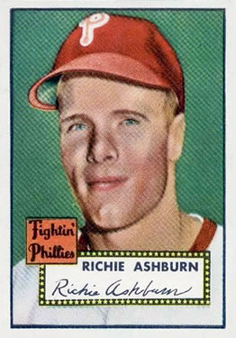 1952 Topps #216 Richie Ashburn Front