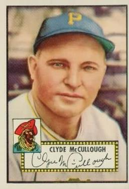 1952 Topps #218 Clyde McCullough Front
