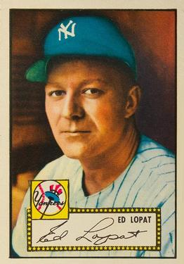 1952 Topps #57 Ed Lopat Front