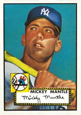 1952 Topps #311 Mickey Mantle Front