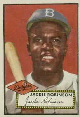 1952 Topps #312 Jackie Robinson Front
