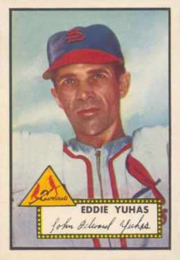 1952 Topps #386 Eddie Yuhas Front