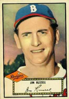 1952 Topps #51 Jim Russell Front
