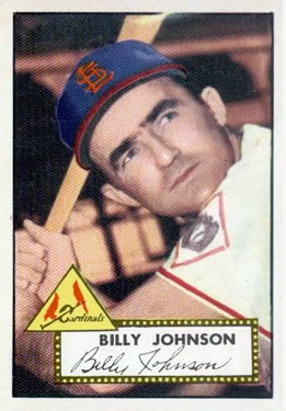 1952 Topps #83 Billy Johnson Front