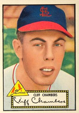 1952 Topps #68b Cliff Chambers Front