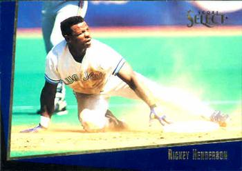 1993 Select Rookie/Traded #1T Rickey Henderson Front