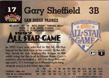 Gary sheffield gallery the trading card database 1993 stadium club murphy 17 gary sheffield back altavistaventures Images