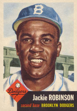 1953 Topps #1 Jackie Robinson Front