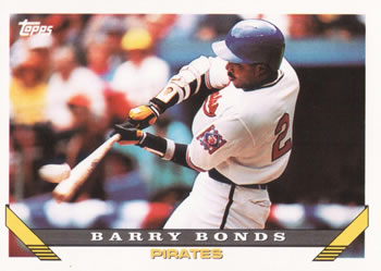 1993 Topps #2 Barry Bonds Front