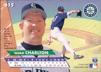 1993 Ultra #615 Norm Charlton Back