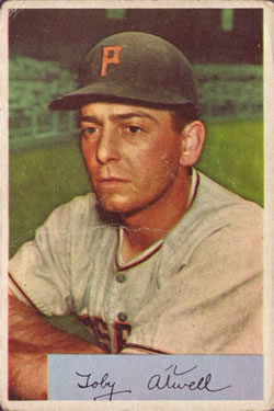 1954 Bowman #123 Toby Atwell Front