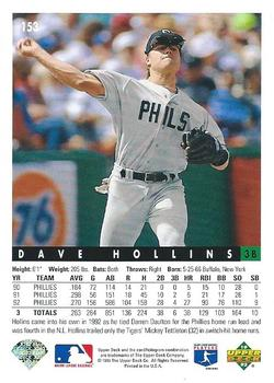 1993 Upper Deck #153 Dave Hollins Back