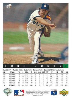 1993 Upper Deck #171 Doug Jones Back