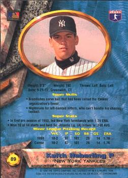 1994 Bowman's Best #89 Keith Heberling Back