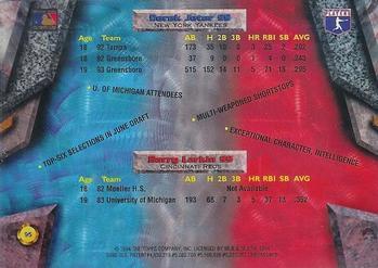 1994 Bowman's Best #95 Barry Larkin / Derek Jeter Back