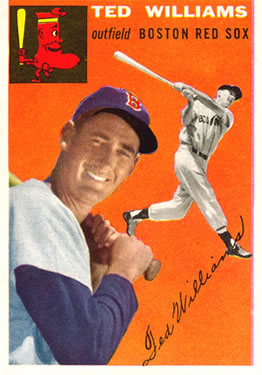 1954 Topps #1 Ted Williams Front