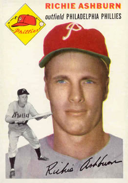 1954 Topps #45 Richie Ashburn Front