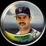1989 Topps Coins #8 Will Clark Front