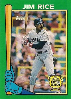 1990 Topps - Batting Leaders #9 Jim Rice Front