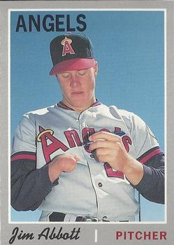 1992 Baseball Cards Magazine '70 Topps Replicas #18 Jim Abbott Front