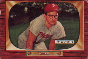 1955 Bowman #210 Earl Torgeson Front
