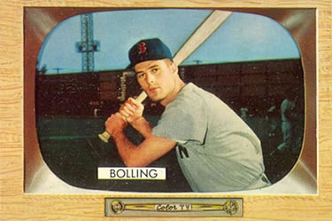 1955 Bowman #48a Frank Bolling Front