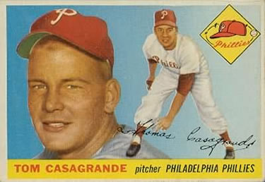 1955 Topps #167 Tom Casagrande Front