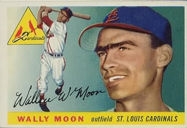 1955 Topps #67b Wally Moon Front