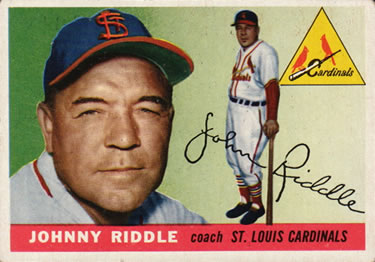 1955 Topps #98 Johnny Riddle Front