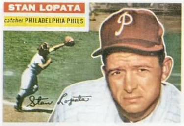 1956 Topps #183 Stan Lopata Front