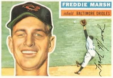 1956 Topps #23a Fred Marsh Front