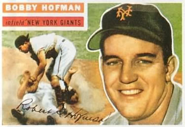 1956 Topps #28a Bobby Hofman Front