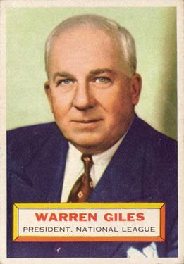 1956 Topps #2 Warren Giles Front