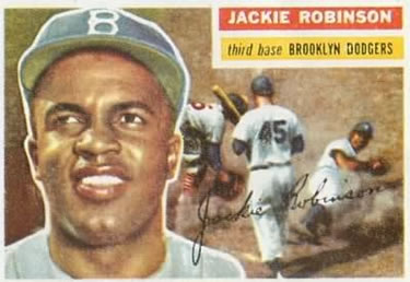 1956 Topps #30a Jackie Robinson Front