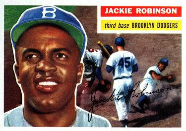 1956 Topps #30 Jackie Robinson Front