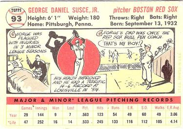 1956 Topps #93a George Susce Back