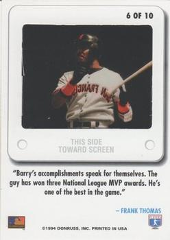 1994 Leaf - Slideshow #6 Barry Bonds Back