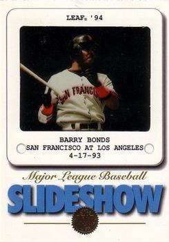 1994 Leaf - Slideshow #6 Barry Bonds Front