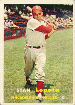 1957 Topps #119 Stan Lopata Front