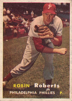 1957 Topps #15 Robin Roberts Front