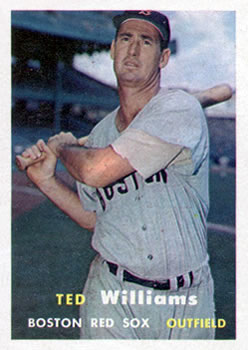 1957 Topps #1 Ted Williams Front