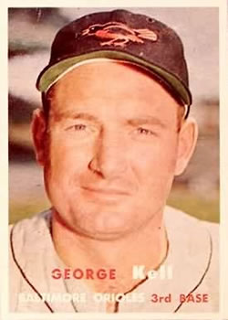 1957 Topps #230 George Kell Front