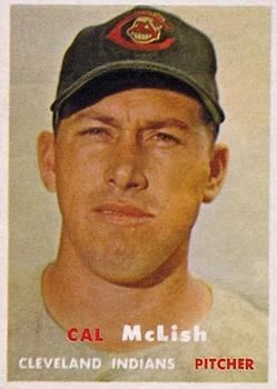 1957 Topps #364 Cal McLish Front