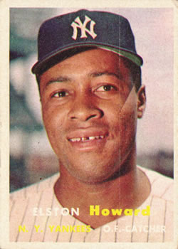 1957 Topps #82 Elston Howard Front