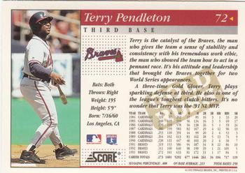 Terry Pendleton Gallery | The Trading Card Database