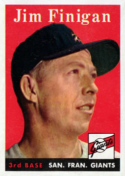 1958 Topps #136 Jim Finigan Front
