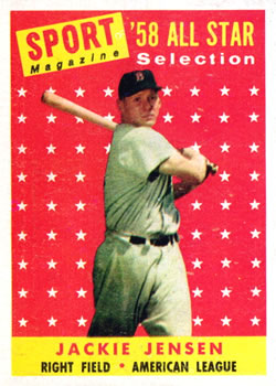 1958 Topps #489 Jackie Jensen Front